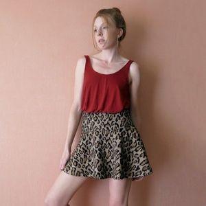 Free People Leopard Mini Skirt